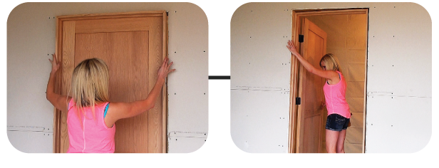 Place the unit into the RO and open the door past 90°. It will act like a kickstand to prop the frame up. Next place the 3 parts labeled H at ... & JENTRA - Cheatah door level - single and double door kit Pezcame.Com